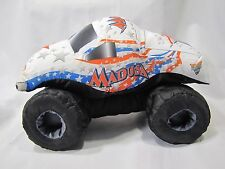 MONSTER JAM PUFF PILLOW TRUCK MADUSA NYLON SOFT STUFFED TOY FELD MOTOR 2009