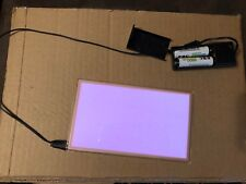 """6.8x4"""" EL Panel Electroluminescent Light Up Paper w/ AA Battery Pack RAVE shirt"""
