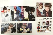 BTS Jungkook 12 p Postcard + 3p Sticker SET High quality photo  Kpop 2017 NEW