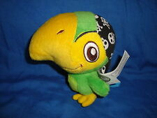 """Disney Store Jake and the Neverland Pirates SKULLY Parrot Plush 5"""""""