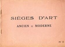 L.D, CATALOGUE SIÈGES D'ART ANCIENS ET MODERNES