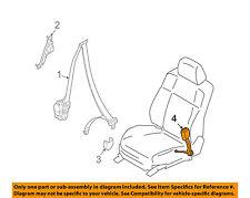 Infiniti NISSAN OEM 08-13 G37 Front Seat Belt-Buckle End Left 86843JK60B