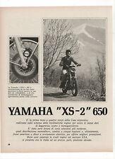 Pubblicità 1972 YAMAHA XS-2 650 MOTO MOTOR old advert werbung publicitè reklame