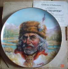 Lynell Studios Collectors Plate THE TRAPPER - THE AMERICAN ADVENTURE SERIES