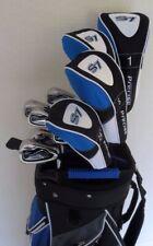 Mens Golf Set Driver, Woods, Hybrid, Irons, Putter, Cart Bag Right Handed Stiff