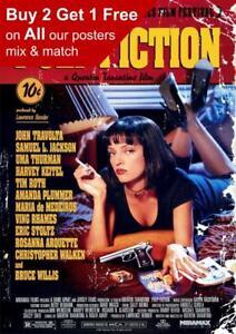 Pulp Fiction Classic Movie Poster A5 A4 A3 A2 A1