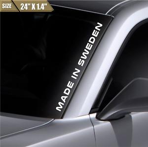 Made In Sweden Windshield Sticker Vinyl Window Decal Car Sticker Fits Volvo Saab