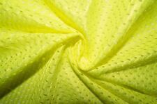 Neon Yellow #6 Athletic Sports Mesh Knit Polyester Football Jersey Fabric Bty