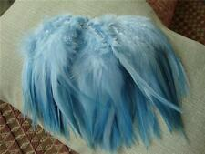 Strung Sky Blue Rooster Saddle Feathers  US Seller