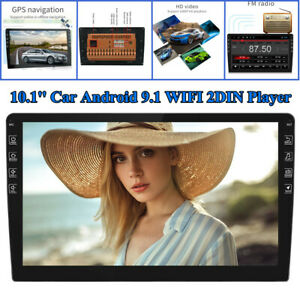 10.1inch Car Android 9.1 Blueteeth Stereo Radio Double 2 DIN Player GPS Wifi