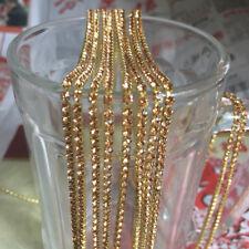 SS8 (2.5mm) Crystal Rhinestone Close Chain Trim Sewing Craft DIY Crystal Chain B