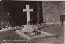 Large format postcard of Nurse Edith Cavell's grave in Norwich Norfolk