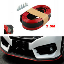 2.5M Car Front Bumper Lip Strip Stickers Rubber Protectors Mouldings Side Skirt