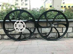 "CDHPOWER 26"" Mag Wheels Set/Magnesium Wheel Rims &56T Sprocket-Motorized Bicycle"