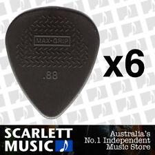 6 X Jim Dunlop Max Grip Nylon 0.88mm .88 Gauge Grey Guitar Picks *SIX PICKS*