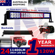 "24"" 120W Led Work Light Bar Spot Flood Boat Atv Suv Offroad 4WD Ford Jeep Pickup"
