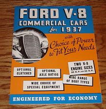 1937 Ford V-8 Commercial Cars Trucks Sales Brochure 37