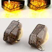 2pcs Flush LED Turn Signal Fog Light For Motorcycle Suzuki GSXR 600 750 1000 DL