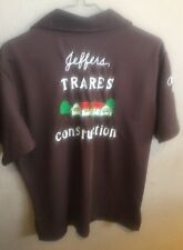 Vintage King Louie Bowling Shirt Trares Construction Akron OH M/L