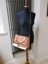 Woman Shoulder Handbag 100% Leather Bag - Aita white tan