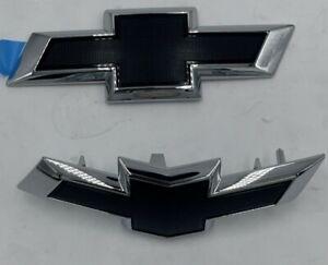 NOS 2017-2018 Chevrolet Cruze OEM Black Bowtie Emblems 84025722