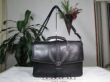 NWT Coach Lexington Leather Flap Briefcase Laptop Bag F71073 Black