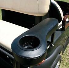 Black Golf Cart Arm Rests Cup Holders Fit on Club Car  Yamaha EZ-GO Rear seats