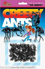 50 FAKE PRETEND PLASTIC ANTS INSECTS BUGS TOY JOKE BOYS GIRLS GIFT