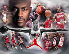 Jordan: giclee print on canvas poster painting no autograph N-918