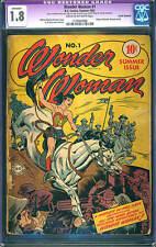 Wonder Woman #1 CGC 1.8 (R) DC 1942 After All Star #8! Golden Age Key! D4 116 cm