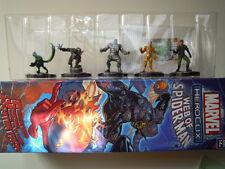 Marvel heroclix lotto 5 supereroi lot 5 figurine 1 9 15 16  37 web of spiderman