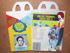 1980 McDonald's Dallas Cowboys unused Super Box 2 Cards Don Meredith Bob Lilly