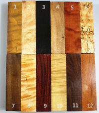 """12PCS various wood knife scales/pistol handle Craftwood Blanks 6""""×1.5""""×1.2"""""""