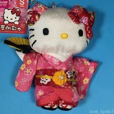 F/S Hello Kitty Chirimen Kimono Crepe Tessuto Peluche Carino Kawaii Rosa da KYOTO