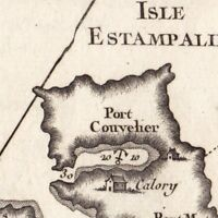 Carte Géographique XVIIIe Astypalée Astipalea Αστυπάλαι Dodécanèse Grèce 1764