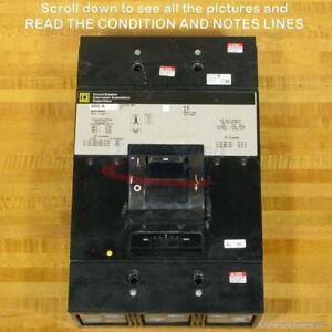Square D MHP36800 Circuit Breaker, 800 Amp, 600 Volt, Used