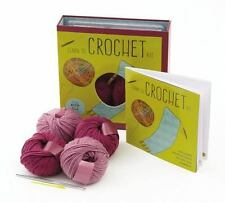Learn to Crochet Kit: Creative Craft Kit, Includes Hook and Yarn for Practice an