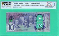 CANADA 2017 10 DOLLARS 150TH ANNIVERSARY PCGS 69 SUPERB GEM UNC OPQ NOT PMG