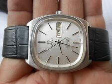 RARE VINTAGE SS DAY DATE SWISS MADE OMEGA SEA MASTER MENS QUARTZ WRISTWATCH