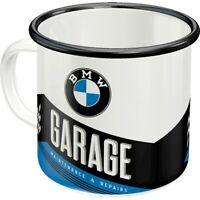 BMW Garage Emaille Kaffeetasse Souvenir Tasse 360 ml. coffee mug