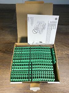 *Lot of 3* New Allen Bradley A-B 1492-L4-G 1492L4G Ser. A Terminal Block - Green