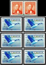 8x CANADA 1952 FLYING GOOSE PRIME MINISTER MacKENZIE FACE 50 CENT MNH STAMP LOT