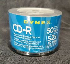Dynex CD-R 52X 80 Min 700MB 50 Pack Recordable Compact Discs - New in package
