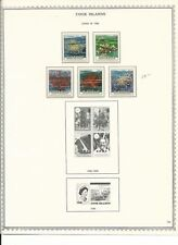 Cook Islands Collection 1986 to 1992 on 7 Pages, Mint Stamps & Sheets