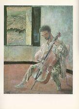 """1976 Vintage SALVADOR DALI """"VIOLONCELLIST RICARDO PICHOT"""" Color Art Lithograph"""