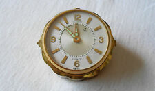 Vintage LeCoultre Brass Alarm Clock ~ Swiss 8 Day Model #60 ~ Works
