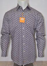 THOMAS DEAN men's Long Sleeve Casual SHIRT Button Down Purple MEDIUM nwt $110