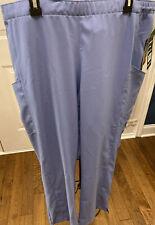 New Ceil Blue W123 Wonderwink Women Scrub Bottoms 2X Xxl Plus Size Pants Nwt