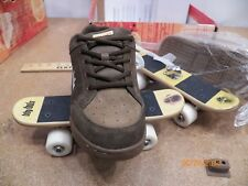 Quality Sneaker Shoe Skates Bbyhds Skate Skateboard Combo Shoes Sz 3 Brown