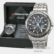 Authentic Citizen Eco-Drive Men's Skyhawk Titanium AT Watch JY8068-56E